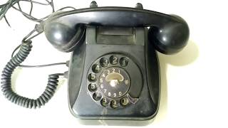 Vintage Rotary Dial Black Telephone 1978