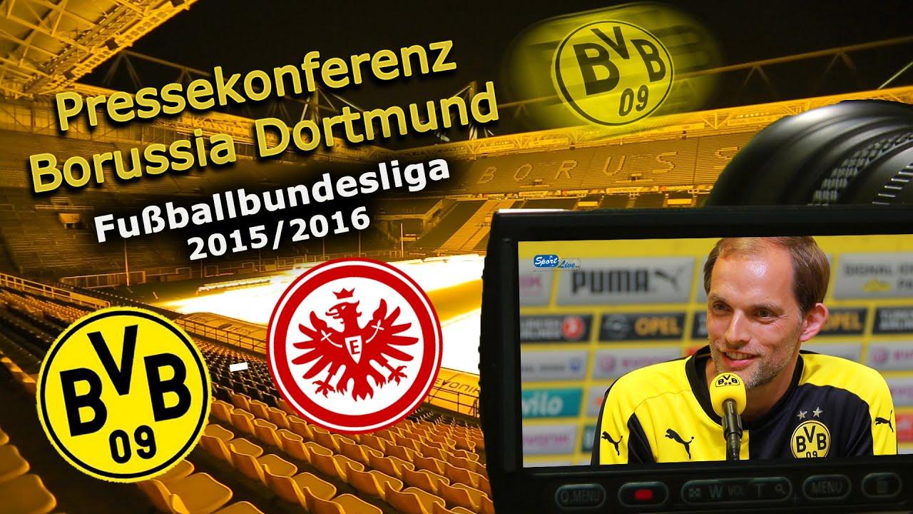 Borussia Dortmund - Eintracht Frankfurt: Pk mit Thomas Tuchel
