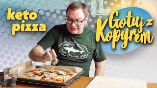 Keto Pizza [gotuj z kopyrem] - bezglutenowa niskowęglowodanowa bez mąki i drożdży