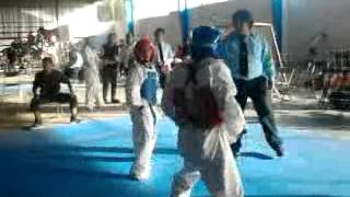 CIMA Taekwondo Altepexi - Rafael Eduardo peto rojo 14 - 4 (Tepeaca, Puebla Torneo 9 Copa de Gonzaga)
