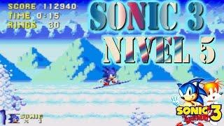 Sonic 3 / Nos congelamos en la nieve / Nivel 5 / Sega Genesis