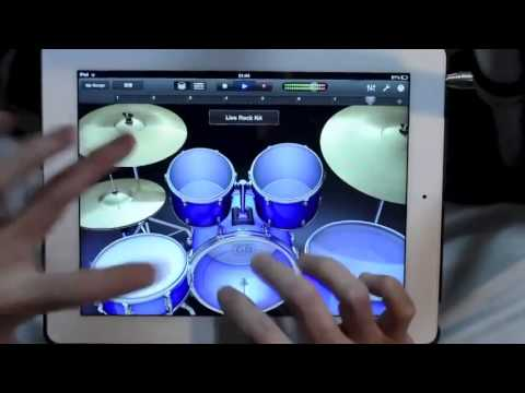 ipad drum kit  iPad Garage Band