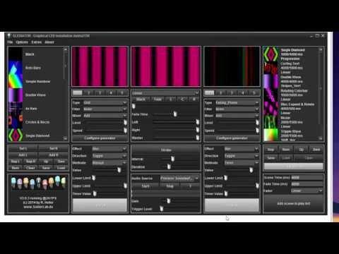 Tutorial: control a LED Matrix with Glediator + Arduino English subtitles, German