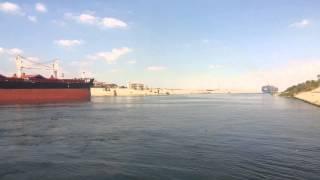 قناة السويس الجديدة على بعد كيلو متر من قناة السويس  الجديدة