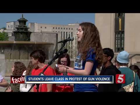 Nashville Students Walk Out On Columbine Anniversary