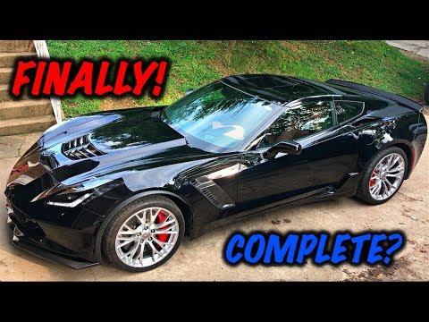 Rebuilding A Wrecked 2017 Corvette Z06 Part 11 - YouTube