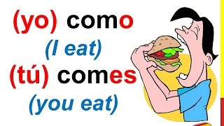 spanish lesson 56 how to conjugate regular er verbs in spanish present tense conjugation rules