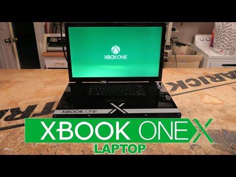 Из Xbox One X сделали портативный ноутбук