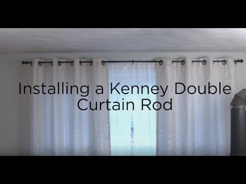 Kenney Double Curtain Rod Installation You
