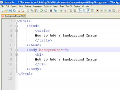 Using html how to add a background image to a web page youtube