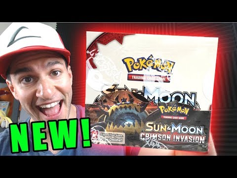 Pokemon Cards CRIMSON INVASION BOOSTER BOX OPENING! (New Pokemon Sun and Moon Cards!)