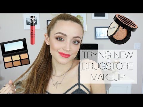Download Youtube: Full Face Using Kokie Cosmetics | Drugstore First Impressions