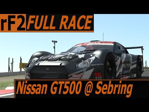 Nissan GT500 2013 @ Sebring - rFactor 2 AI full race