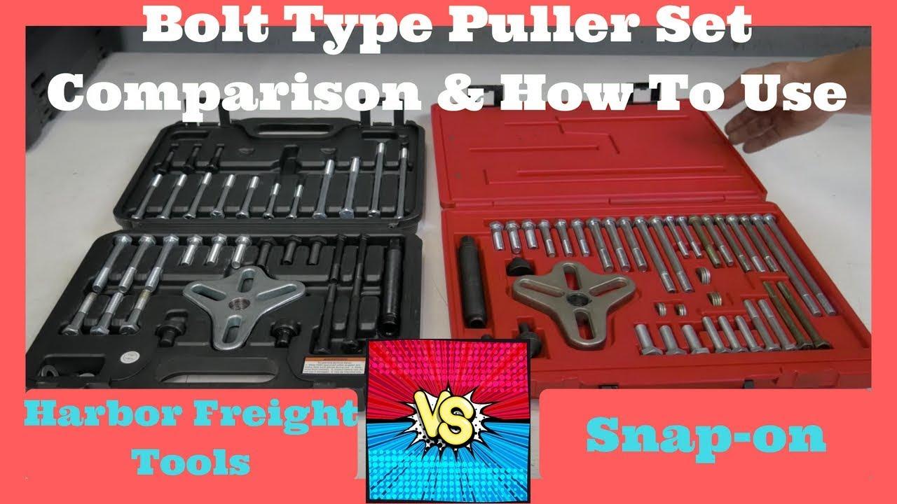 5 Piece Harmonic Balancer Pulley Puller Set Damper Puller Kit ABN Long Reach Harmonic Balancer Installer Kit