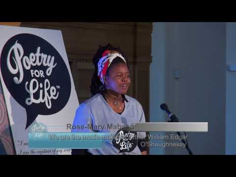 2018 National Finalist - Rose-Mary Mabasa - We are the music-makers by A.W.E. O'Shaughnessy
