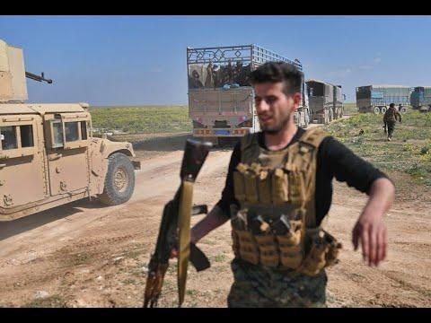 شاحنات مدنيين تغادر آخر جيب لداعش في شرق سوريا  - نشر قبل 3 ساعة