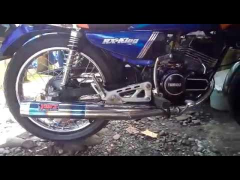 knalpot standar racing rxking crom blue yonz racing