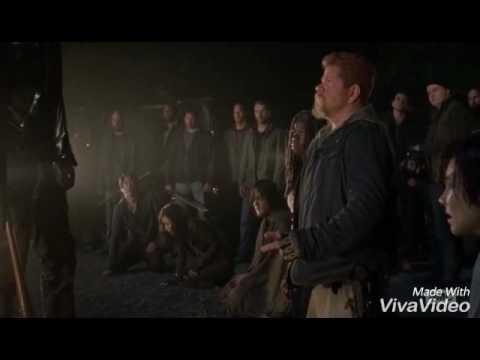 The Walking Dead Season 7 - Negan kill scene