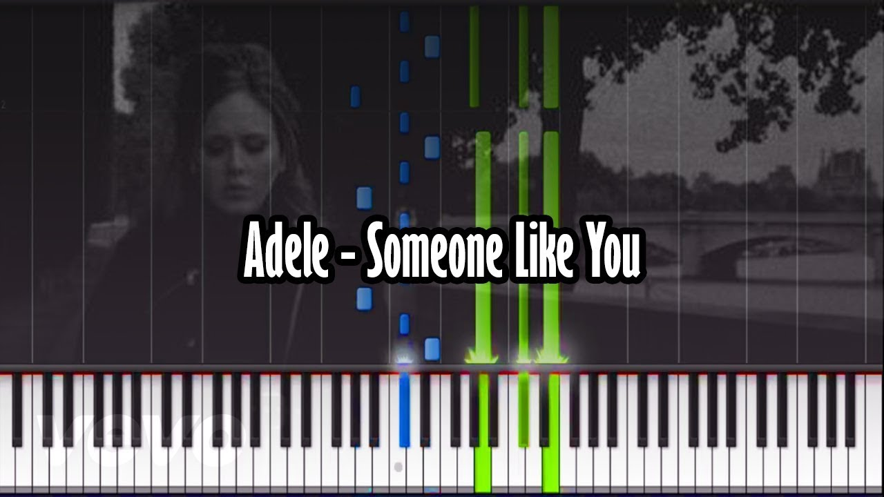 Adele someone like you piano tutorial synthesia with adele someone like you piano tutorial synthesia with realistic piano sound baditri Image collections