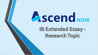 IB Extended Essay - research topic