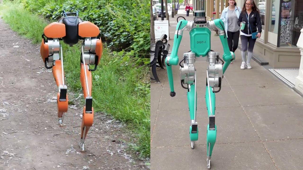 Résultats de recherche d'images pour «Cassie Vs Digit Delivery Robot By Agility Robotics - Digit is an upgrade version of Cassie»
