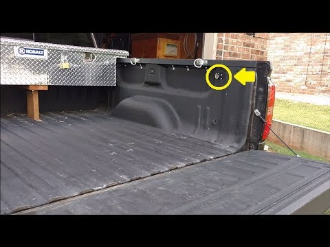 DIY truck bed 12v power socket installation - direct wiring to ... on 2013 f250 wiring harness, 2013 f250 fuse diagram, 2013 f250 lights,