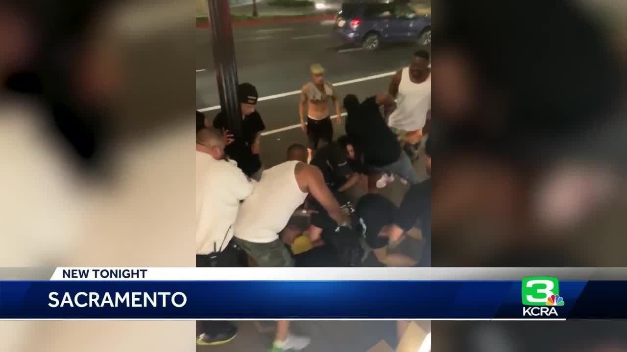 Dozens involved in brawl outside downtown Sacramento hotel