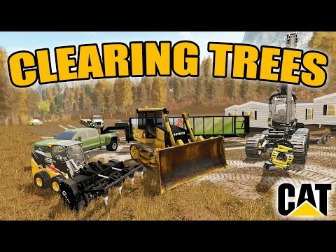 FARMING SIMUALTOR 2017 | CLEARING TREES | NEW DOZER | MULTIPLAYER