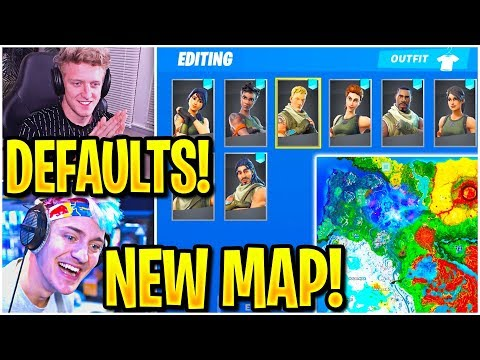 Streamers USING *NEW* DEFAULT SKIN PICKER & SEASON 11 MAP! (Fortnite)