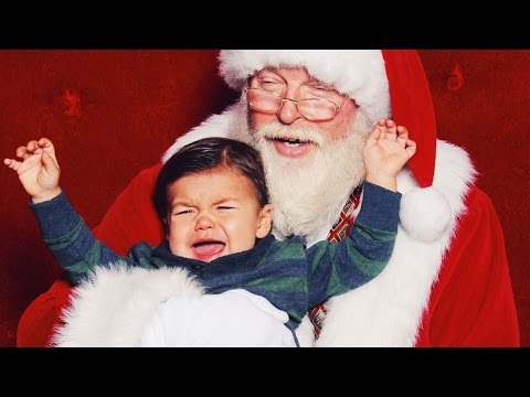 KID SCARED OF SANTA!!