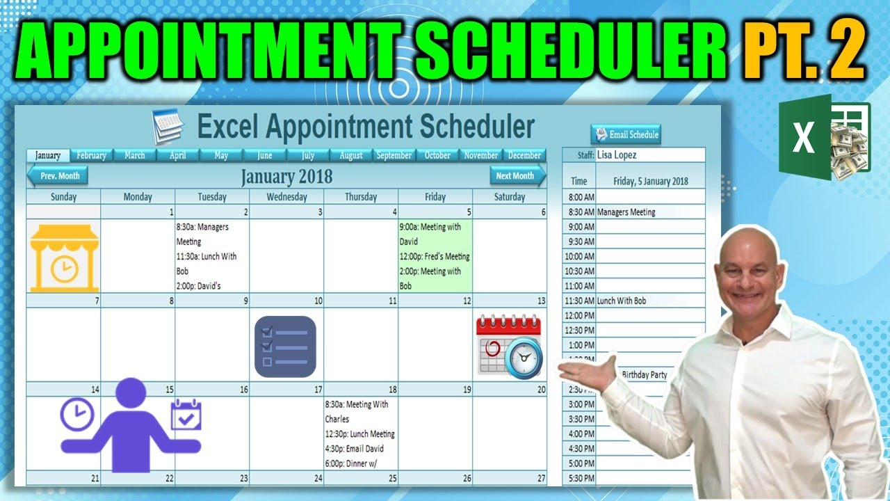 how to send appointments from excel to multiple google and outlook