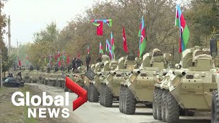 Nagorno-Karabakh: Azerbaijan's troops enter Aghdam region, Russian army patrols road to Stepanakert