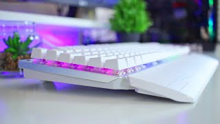 Beautiful White RGB Gaming Keyboard - Redragon Indrah