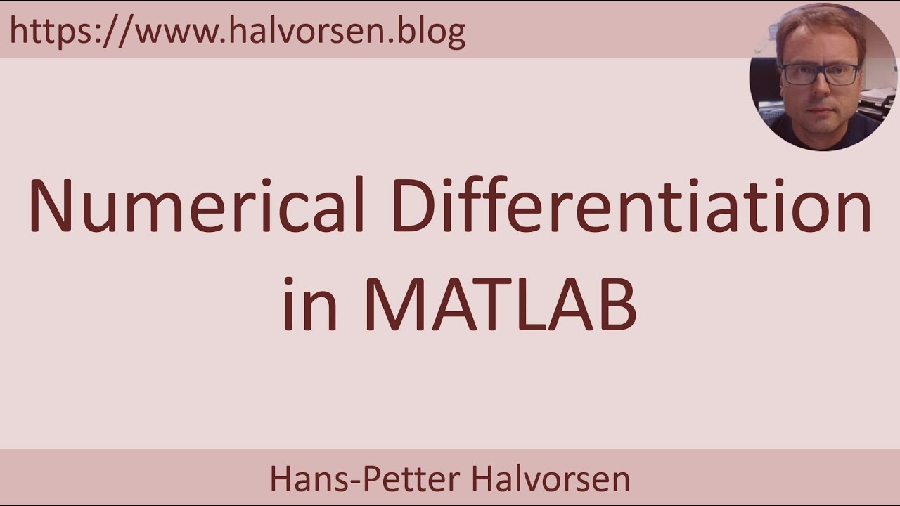 MATLAB - Numerical Differentiation