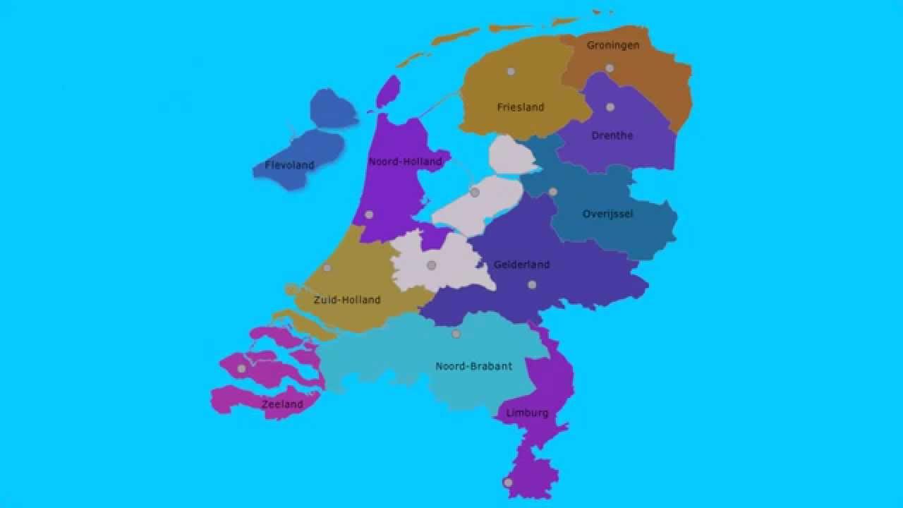 Topografie Provincies Van Nederland En Hoofdsteden Www Topomania Net