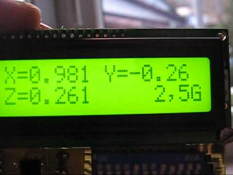 3 axis accelerometer demonstration