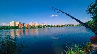 ЭТА ПРИМАНКА ловит везде! Рыбалка на спиннинг на отводной. Окуни в Донецке на реке Кальмиус.