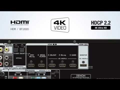 Denon | The AVR-X520BT AV Receiver with Bluetooth - Blockbusting Sound