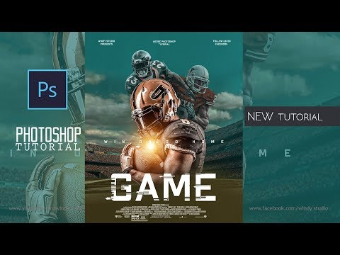 Adobe Photoshop Tutorial L Sports Moive Poster