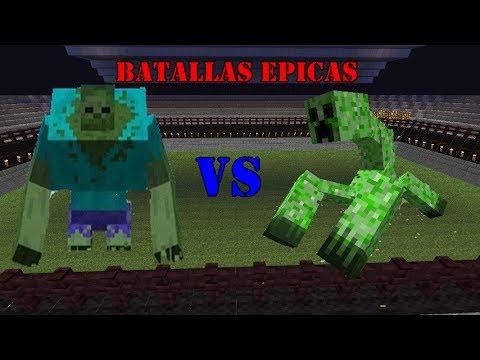 Batallas epicas minecraft zombie mutante vs creeper - Minecraft zombie vs creeper ...