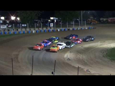 Flinn stock Heat Race #1 at Crystal Motor Speedway, Michigan on 09-15-2018!