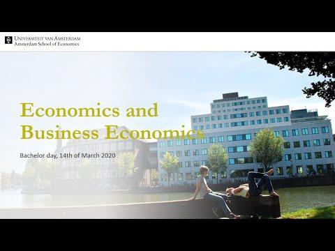 Bachelor's Economics and Business Economics (University of Amsterdam) - Information session