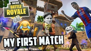 MY FIRST MATCH in Fortnite: Battle Royale