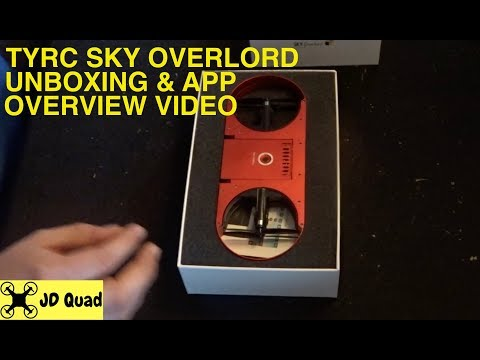 TYRC Sky Overlord Folding Drone Unboxing & App Overview Video