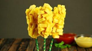Сосиски  в картошке - на палочке