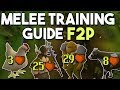 Beginner Leveling Guide for Melee Training in F2P - Training Locations and Suggested Equipment[OSRS]