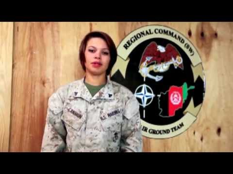 God Bless America   Sung by Marine in Afghanistan