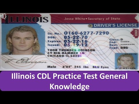 Illinois CDL Practice Test General Knowledge