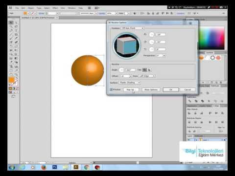 Bilgi Eğitim Grafik Tasarım Kursu - illsutrator 3D Logo Yapımı