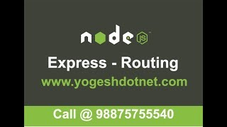 routing in express   express router parameter   Hindi